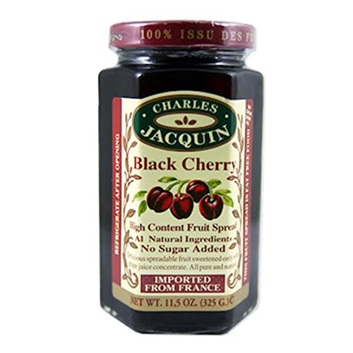 Charles Jacquin French All Natural Fruit Spread 11.5 Ounce Imported From France (Black - Fruit Black Spread Cherry