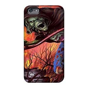 Iphone 6plus UkX19585MoLC Customized Lifelike Iron Maiden Band Image Shock Absorbent Hard Phone Case -AlissaDubois