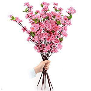 XBH Artificial Plum Bouquet Branch Silk Flower 107