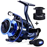 TROUTBOY ZM Fishing Reel Spinning Reels With Latest Unique Main Body Design – T6 Double Anodized Aluminum Spool,13+1 Double Shielded Stainless Steel Ball Bearings, Free Spare Graphite Spool (ZM-3000) For Sale