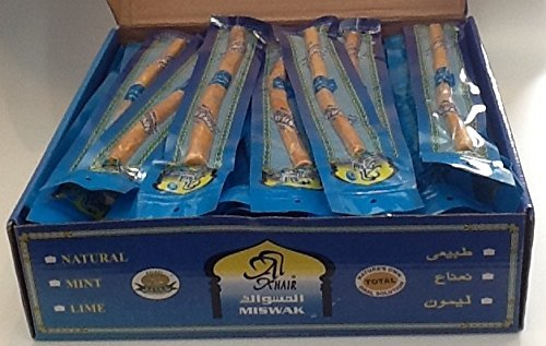 Miswak by Al Khair - Natural Toothbrush - 8'' Long (Box of 60 miswaks) by Peelu