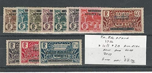 French Equatorial Africa, Postage Stamp, 11//23 Mint & Used, 1936, JFZ