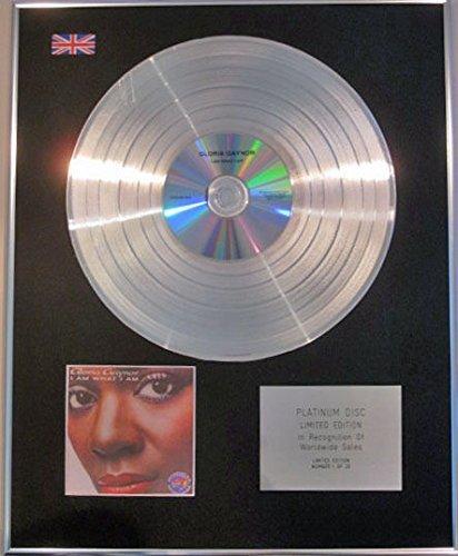 GLORIA GAYNOR - Limited Edition CD Platinum Disc - I AM WHAT