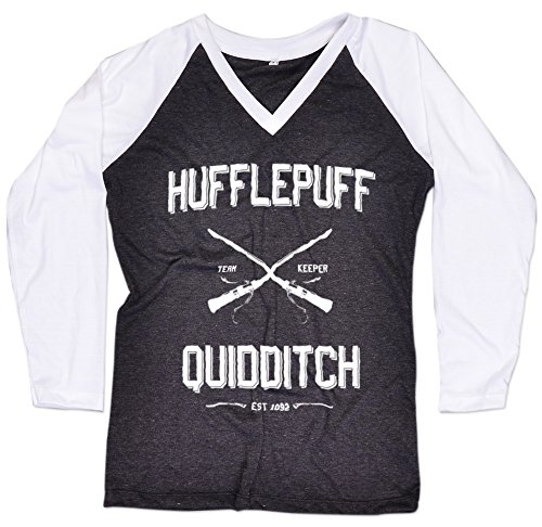[Hufflepuff Quidditch shirt Long Sleeve Baseball Raglan Harry Potter Women T-Shirt Free Topcarnival Hair Band] (Dobby Harry Potter Costumes)
