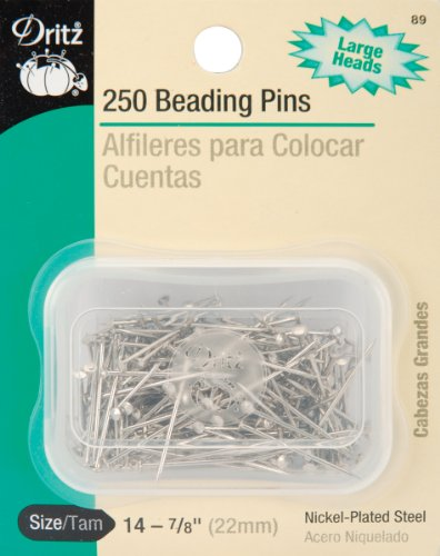 Dritz 89 Beading Pins, 7/8-Inch (250-Count)