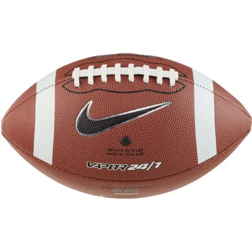 Nike Spiral - Nike Vapor 24/7 Official Football (Brown/White/Black, Official-NFHS)