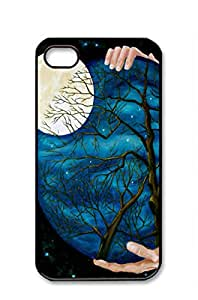 iphone 4/4s case,Dark sky with both hands [Non-Slip] [Exact-Fit] Case Slim **NEW** [Fit Series] [Thin Fit] [Smooth Black] Hard Case - ECO-Friendly Packaging - Slim Case for iphone 4 / 4s,black