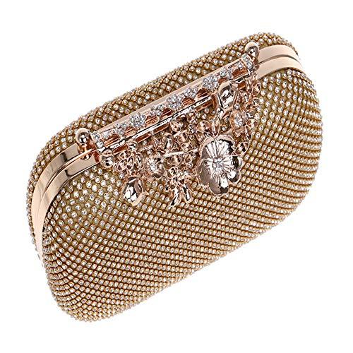 Fleur Onesize Pour Forme De Diamants couleur Or Avec Luxe Taille Porte monnaie Or Banquet Femme Sac En PfqwBZ