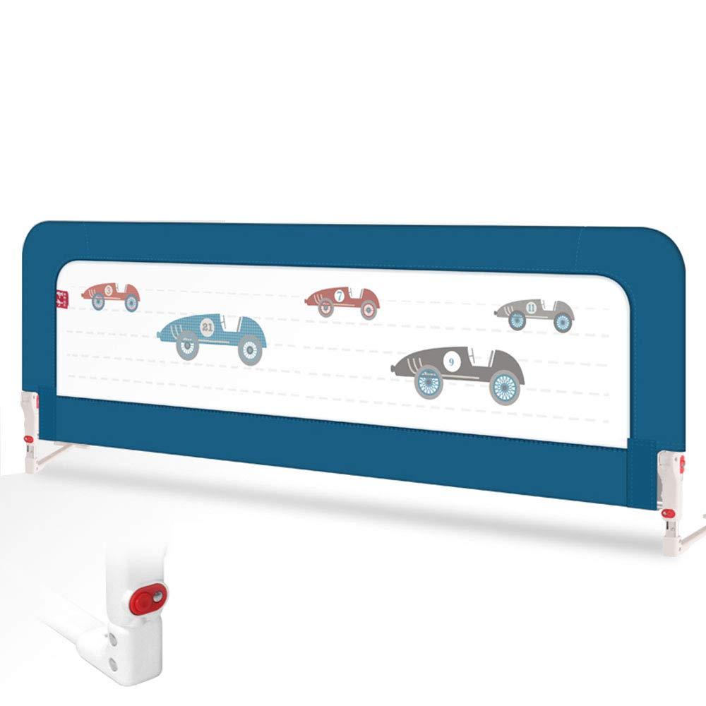YNN ベッドレール子供用ベッドガードレールベビー防水ベッドフェンスベッドサイドベゼル150cm (色 : 濃紺)  濃紺 B07H86PLDH