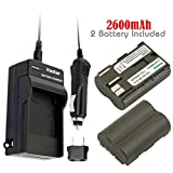 Kastar Battery (2-Pack) and Charger for Canon BP-511, BP-511A, BP511, BP511A and EOS 5D, 10D, 20D, 30D, 40D, 50D, Digital Rebel 1D, D60, 300D, D30, Kiss Powershot G5, Pro 1, G2, G3, G6, G1, Pro90 etc.