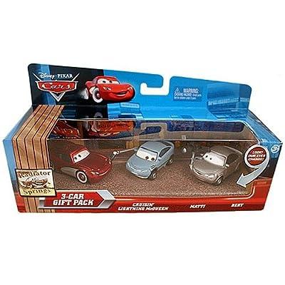 Disney / Pixar Cars Multi-Packs Radiator Springs 3-Car Gift Pack Diecast Car Set [Cruisin']: Toys & Games
