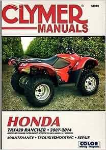 honda rancher service manual free download