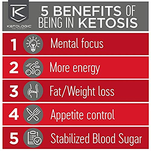 KetoLogic Keto Meal Replacement Shake with MCT, Chocolate | Low Carb, High Fat Keto Shake | Promotes Weight Loss & Suppresses Appetite | 20 Servings