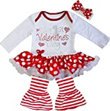 Kirei Sui Baby My 1st Valentine's Day Heart Bodysuit Pants X-Large White
