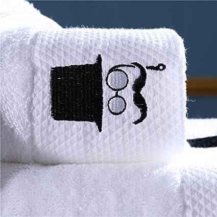 JUNHONGZHANG 3Pcs De Juego De Toallas De Algodón Grueso Hotel Blanco Toalla Toalla De Baño Toalla