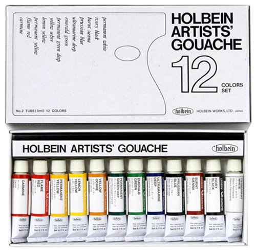 Holbein Artists Gouache Set tubes product image