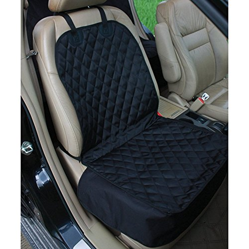 - Amochien Pet Front Seat Cover Protector-Waterproof Oxford Soft Quilted Non-slip Backing Dog Seat Cover Front Black