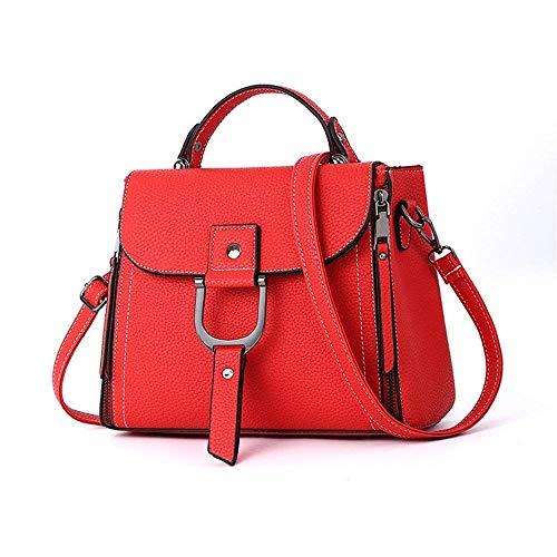 Hombro Amarillo Patrón Rojo Lichi Tamaño color Bolso De Solo Simple Mujer Eeayyygch gTqRwq