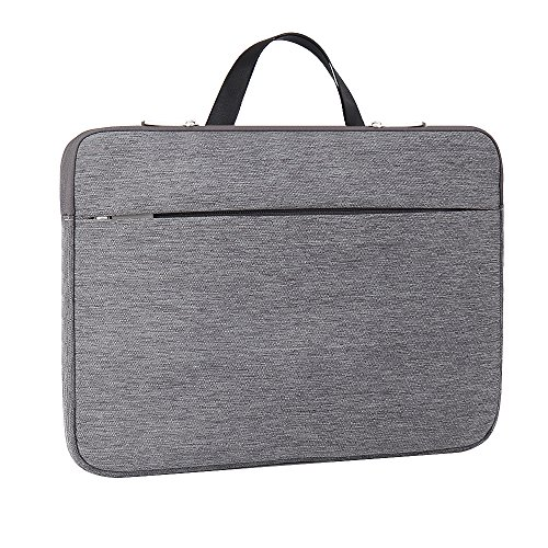 Laptop Sleeve 15.6 Inch ATailorBird - Notebook Ultrabook Protective Bag Case Water-Resistant with Hidden Handle Fit 15.6 Inch /HP/Dell/Thinkpad/Asus/Acer/Samsung Laptops Tablet Cover Case,Gray