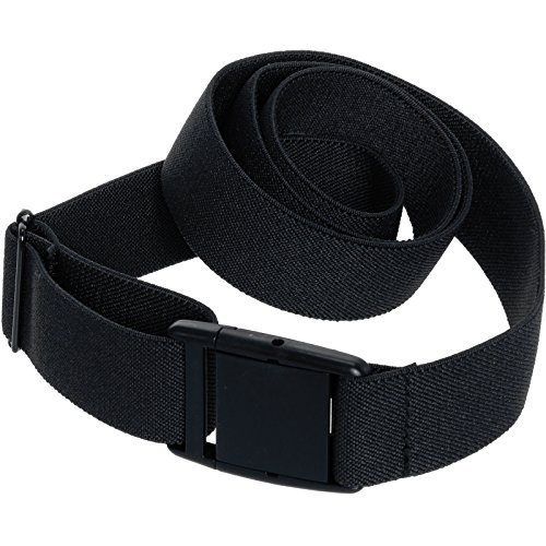 Womens Invisible Belt - Elastic Adjustable No Show Web Belt by Silver Lilly (Black, 0-14)