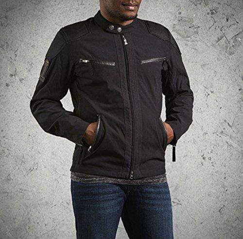Harley-Davidson Mens Raven Water Resistant Textile Jacket 98553-14VM (X-Large )