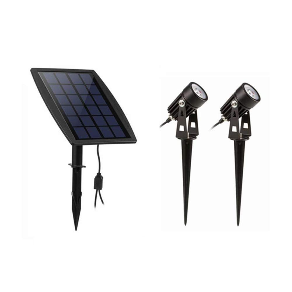 Suguoguo Outdoor Solar Lights, Wasserdichte Rasenlichtlichtbeleuchtung Scheinwerfer für Yard Garden Pool Weiß/Warm Weiß,Weißlight