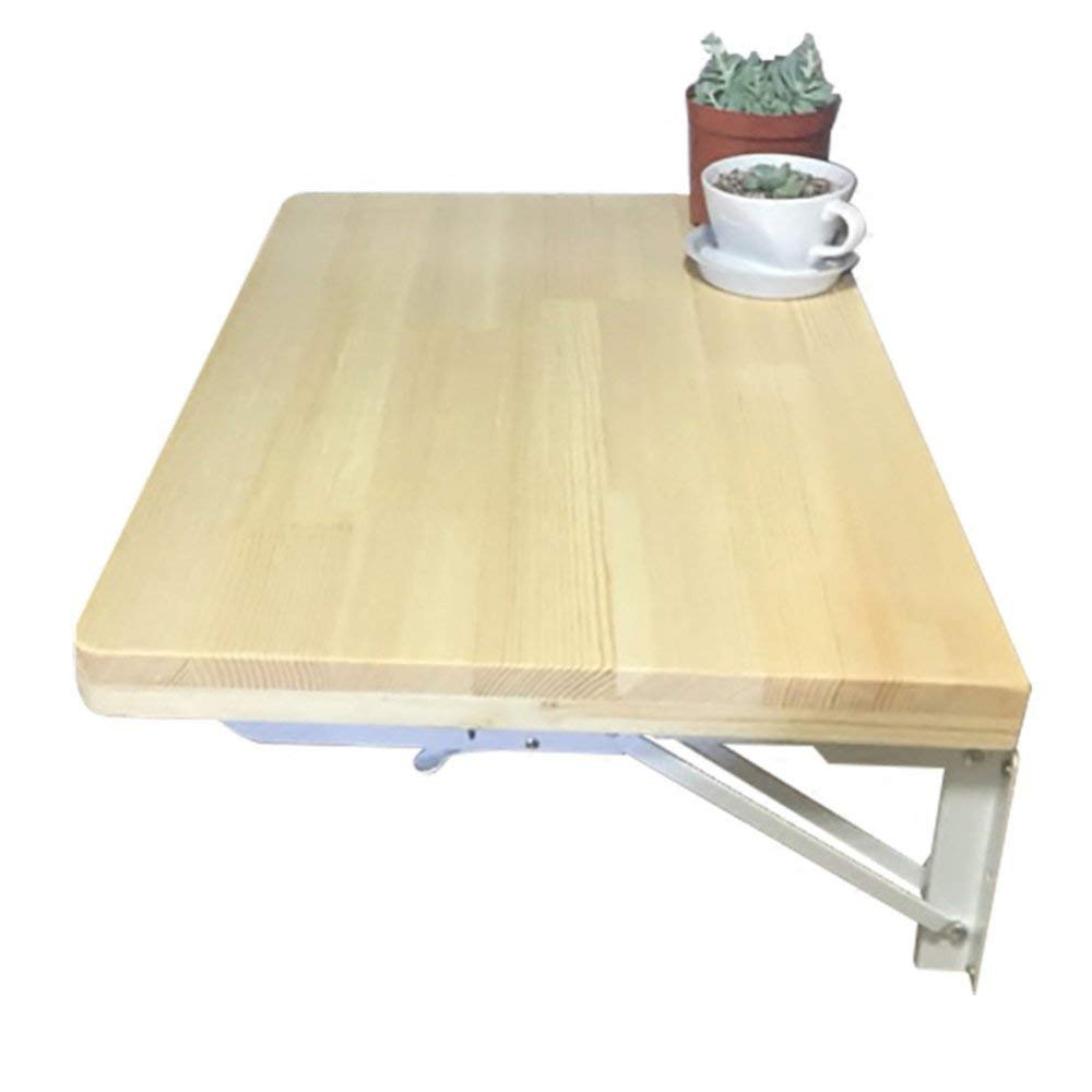 A 80  50Cm AZW Table Pliante en Bois Massif avec Bureau Bureau D'Ordinateur, Table D'étude pour Enfants