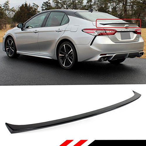 (Cuztom Tuning Fits for 2018 2019 Toyota Camry LE XLE SE XSE Hybrid Sport Style Rear Trunk Lid Spoiler Wing- Painted Gloss Black Finish)