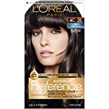L'Oreal Paris Superior Preference Fade-Defying + Shine Permanent Hair Color, 4C Cool Dark Brown, 1 kit Hair Dye 1 Count