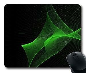 Green Particles Mouse Pad Desktop Laptop Mousepads Comfortable Office Mouse Pad Mat Cute Gaming Mouse Pad
