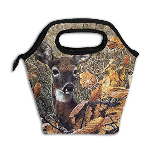 Unisex Lunch Tote Bag Cooler Bag Deer Easy To Clean For Liquor Storage For School Office Picnic With Aluminium?Coating And Printed -