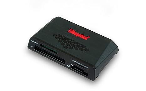 Kingston FCR-HS3 - Lector de Tarjetas de Memoria Externo (USB 3.0, indicador LED), Negro