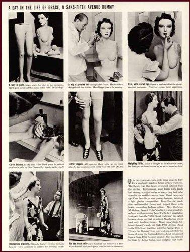(1937 Photo Article ON SAK'S Fifth Avenue Window Dummy Original Paper Ephemera Authentic Vintage Print Magazine Ad/Article)