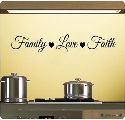 Family Love Faith Wall Decal Sticker Art Mural Home Décor Quote