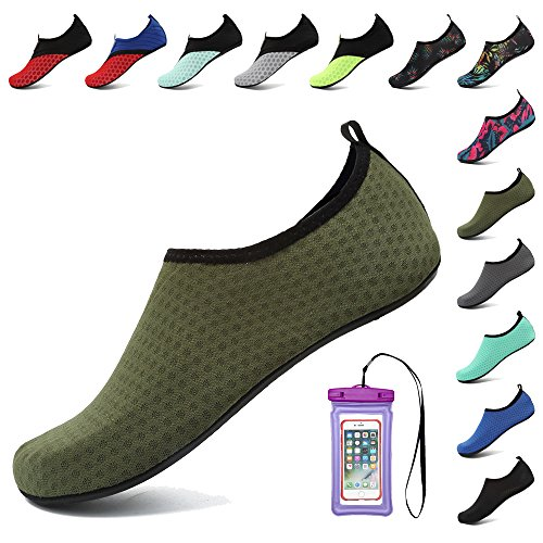 for Army Women Aqua Water Men Coolloog Dry Barefoot Socks Green Quick Surf for Swim Beach Shoes Yoga 6w77RxZU