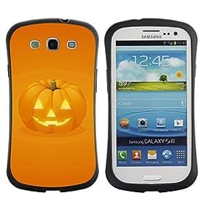 Hybrid Anti-Shock Bumper Case for Samsung Galaxy S3 / Halloween Pumpkin
