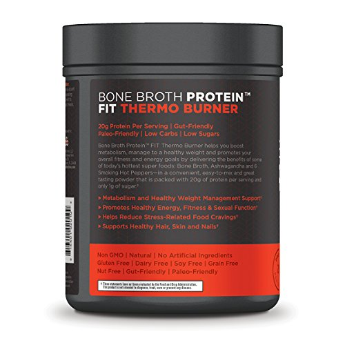 Ancient Nutrition Bone Broth Protein FIT Thermo Burner, 20 Servings Size, Energy, Fitness and Hormone Health