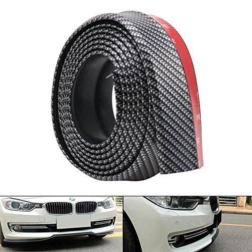 9.8'/2.5 M Spoiler Pare Chocs Avant Universel, Orbeor Anti-Rayures Fibre de Carbone en Caoutchouc Jupe Protector Lip pour Voiture/Camion/SUV (Noir)