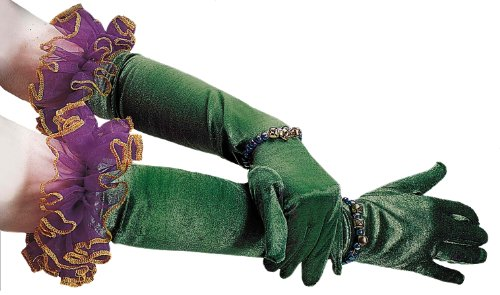 Forum Masquerade Party Costume Accessory, Green/Purple, One Size