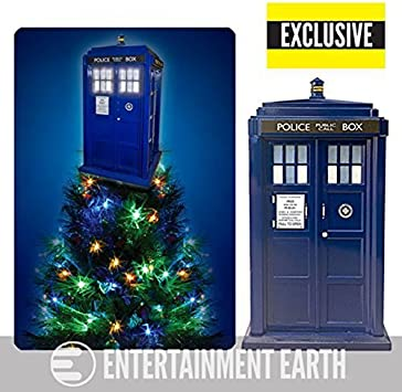 Amazon Com Kurt S Adler Doctor Who Tardis Light Up Holiday Tree Topper Exclusive Home Kitchen