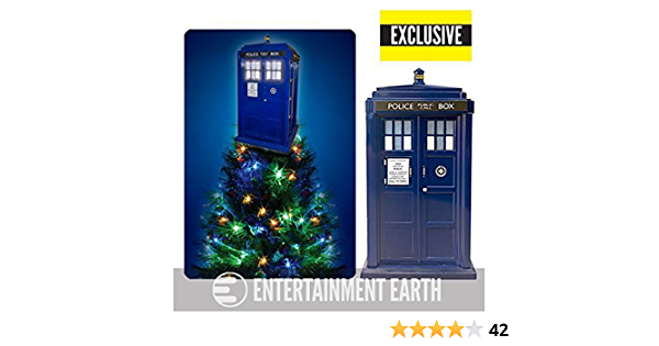 Kurt S Adler Doctor Who Tardis Light Up Holiday Tree Topper Exclusive Home Kitchen Amazon Com