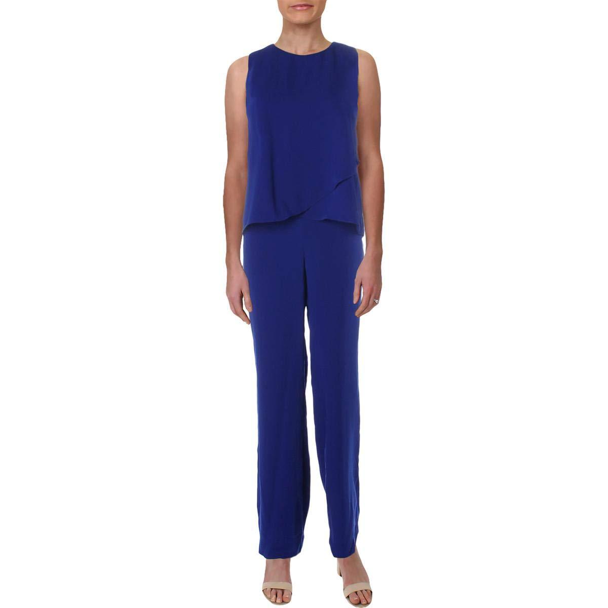 Lauren Ralph Lauren Womens Tiered WideLeg Jumpsuit bluee 2
