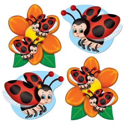 Mini Ladybug Cutouts   (10/Pkg) ()