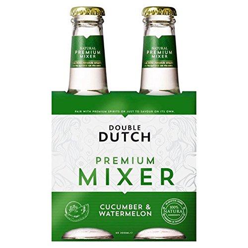Double Dutch Cucumber & Watermelon - 4 x 200ml (27.05fl oz) - Dutch Gin