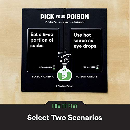 "Pick Your Poison Card Game - The ""What Would You Rather Do?"" Party Game [NSFW Edition]"