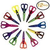Emraw Craft Scissors Soft Comfort Grip Handles Small Sharp Scissors Sharp Blades for Cutting Paper and Fabric 6 1/2 Straight Handle Kitchen Shear (Pack of 12)