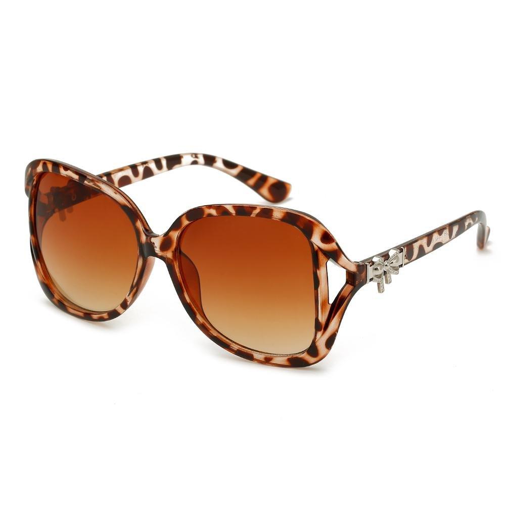 XYLUCKY Gafas de sol de la manera de las mujeres Retro Polarized Sunglasses , brown