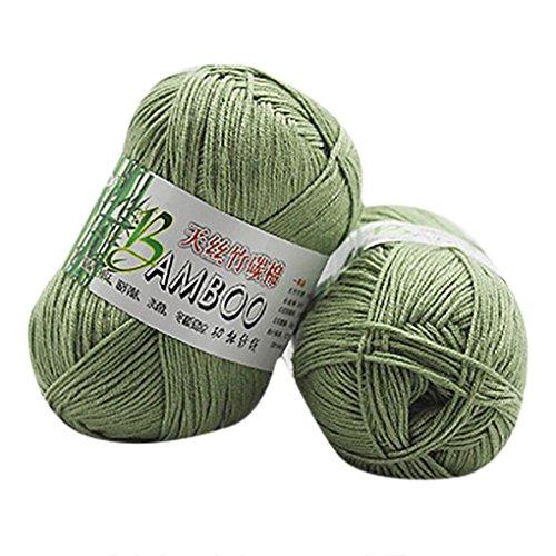Vibola Baby Knitting Yarn Single Ball Bamboo Cotton Warm Soft Yarn for Crochet & Knitting Multi Pack Variety 50g (50g Yarn)