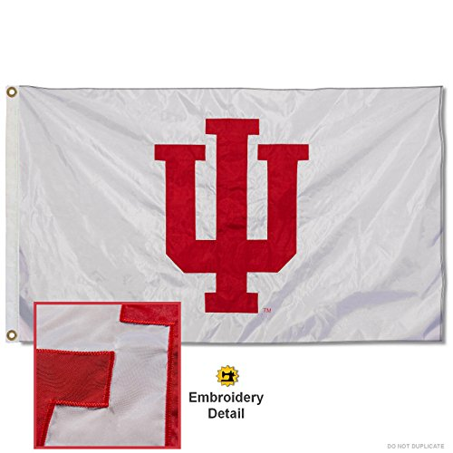 - Indiana University Embroidered and Stitched Nylon Flag