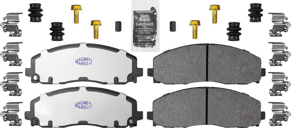 Magneti Marelli by Mopar 1AMV301589 Ceramic Front Disc Brake Pad Kit 4 Pack